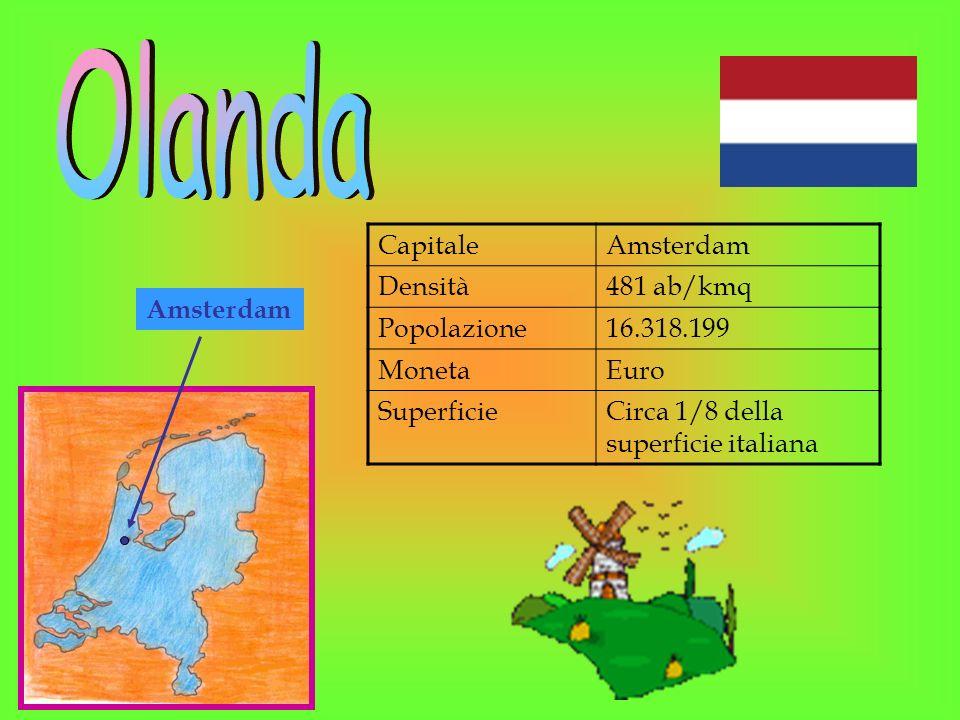 Amsterdam CapitaleAmsterdam Densità481 ab/kmq Popolazione16.318.199 MonetaEuro SuperficieCirca 1/8 della superficie italiana