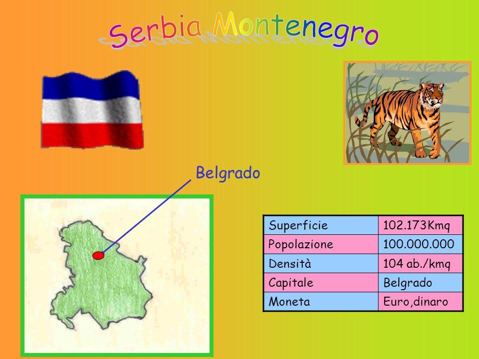 Superficie102.173Kmq Popolazione100.000.000 Densità104 ab./kmq CapitaleBelgrado MonetaEuro,dinaro Belgrado