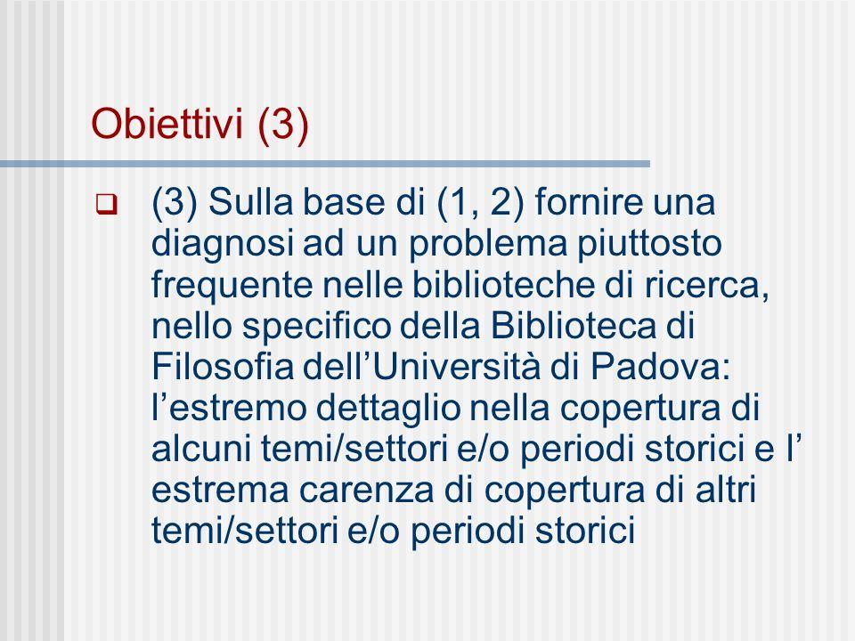 Mango e mela: su (3) Con (3) si vuole fornire una diagnosi del perché nella nostra biblioteca si trova, ed è a scaffale, ad esempio, questo testo sulla vita di un importantissimo filosofo (?): Il riformatore della Trappa: vita di Armand-Jean de Rancé di Anna Maria Caneva ; prefazione di Gregorio Penco Infilato a scaffale in: B.785.R3.Z7C IL MANGO Ma un testo di filosofia della scienza, come ad esempio quello di Imre Lakatos: La metodologia dei programmi di ricerca scientifici Non solo non è a scaffale, ma non cè proprio nella Biblioteca del Dipartimento di Filosofia di PD!!.