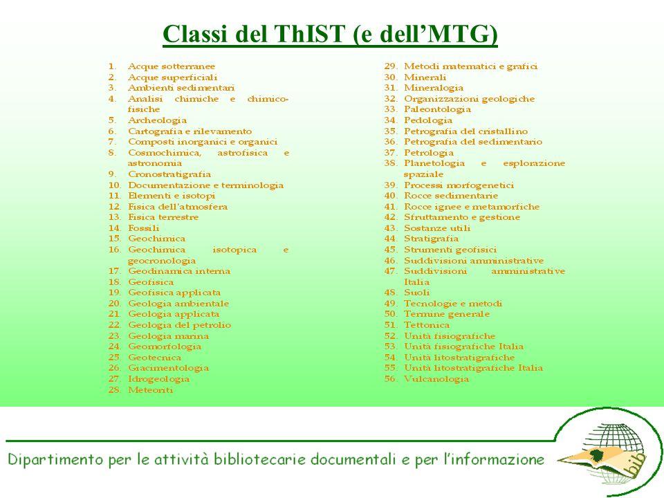 Classi del ThIST (e dellMTG)