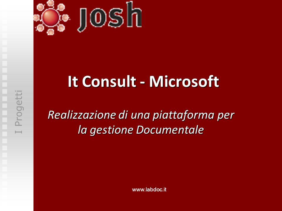 It Consult - Microsoft Realizzazione di una piattaforma per la gestione Documentale I Progetti www.labdoc.it