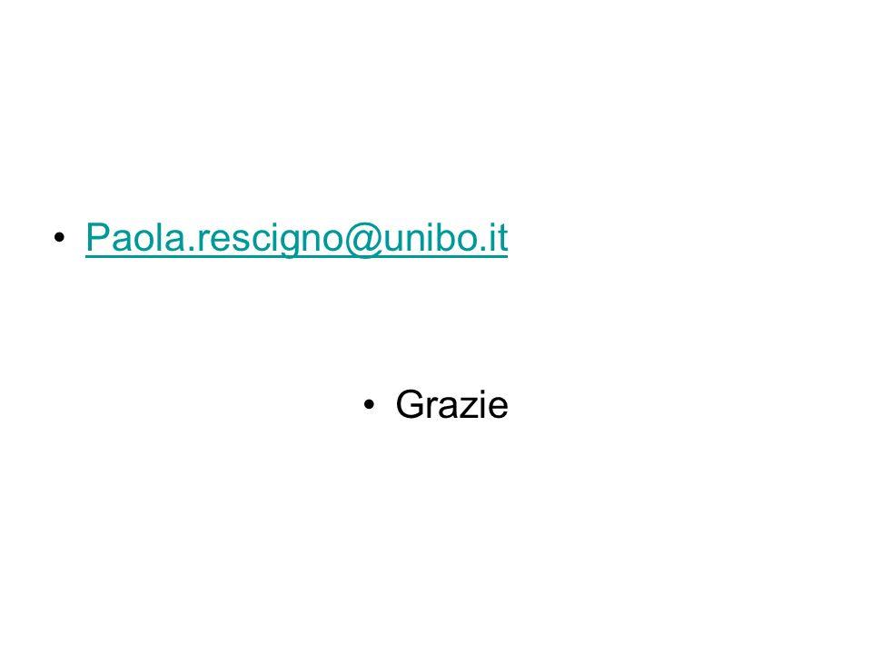 Paola.rescigno@unibo.it Grazie