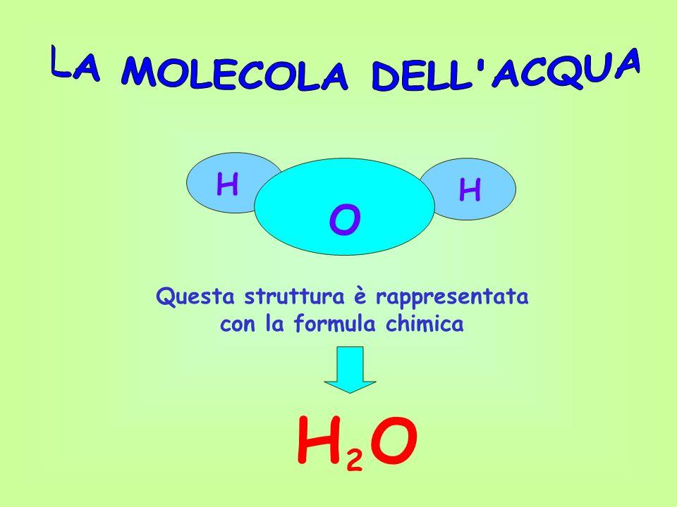 O H H Questa struttura è rappresentata con la formula chimica H O 2
