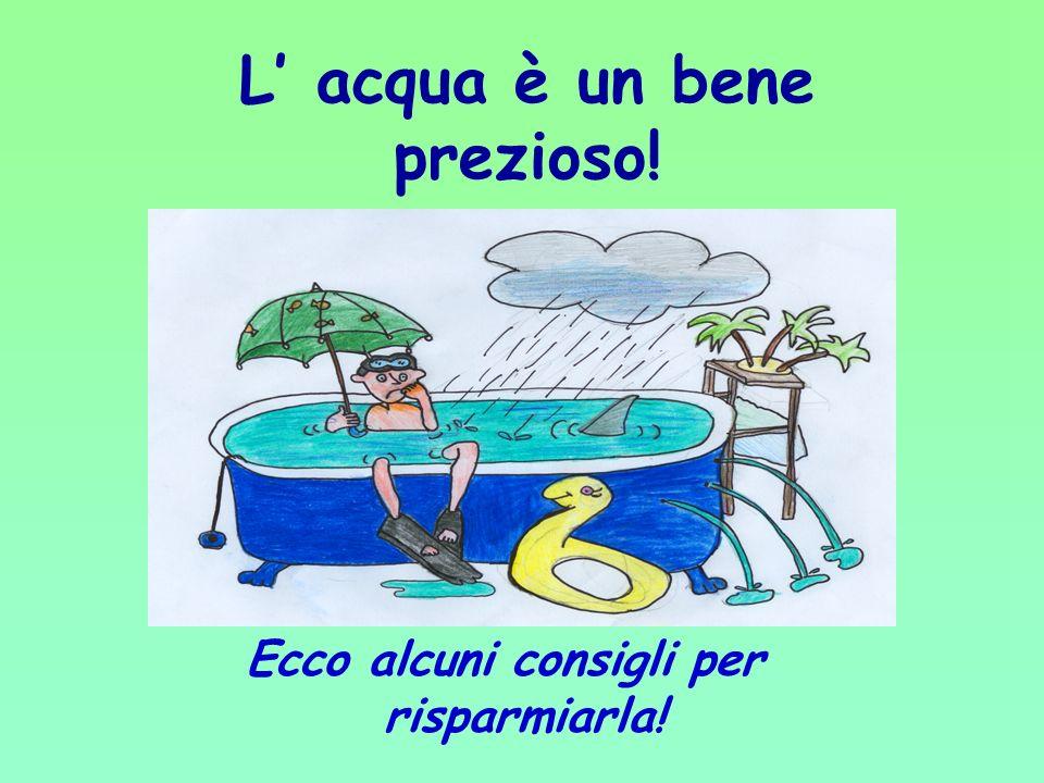 PUNTO 4 Misurazione della quantità di acqua utilizzata Dalla misurazione della quantità di acqua utilizzata per le diverse azioni quotidiane, si rilev