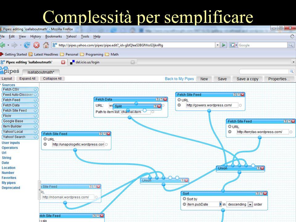 Complessità per semplificare