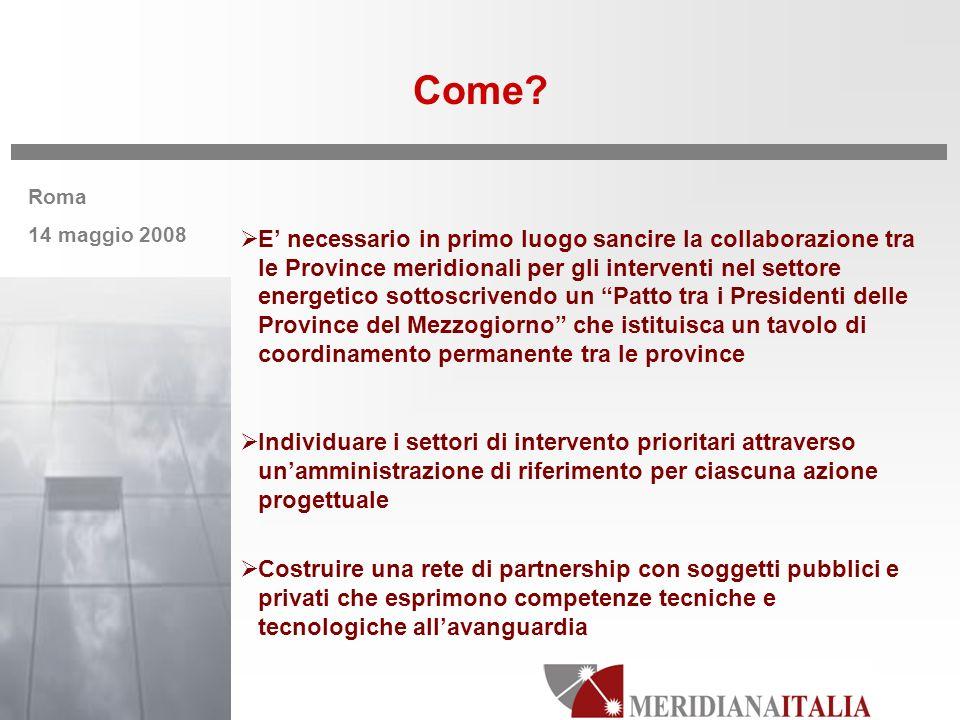 Roma 14 maggio 2008 Come.