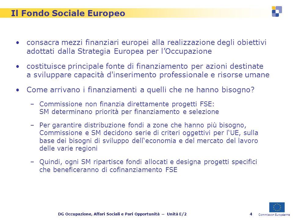 Commission Européenne DG Occupazione, Affari Sociali e Pari Opportunità Unità E/25 E … EQUAL?