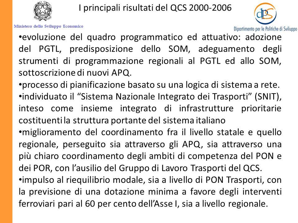 Ministero dello Sviluppo Economico I PROGRAMMI OPERATIVI Selezione delle operazioni Priorità Unione Europea OSC Priorità Nazionali QSN Criteri di sele
