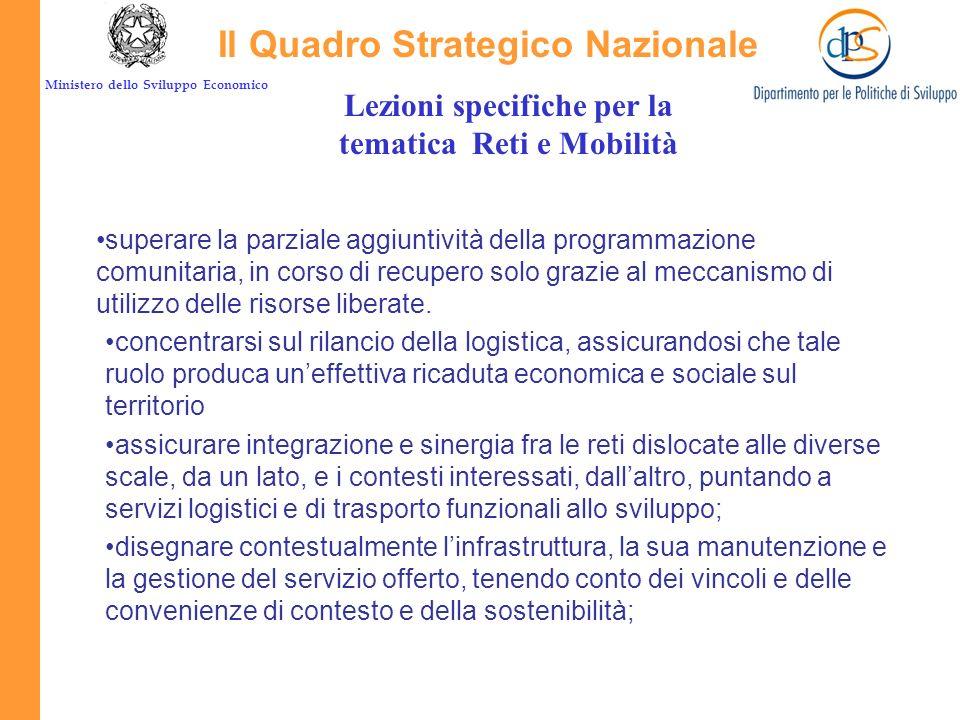 Ministero dello Sviluppo Economico La risposta del QSN Forte dotazione la prima per importanza nellallocazione programmatica delle risorse complessive