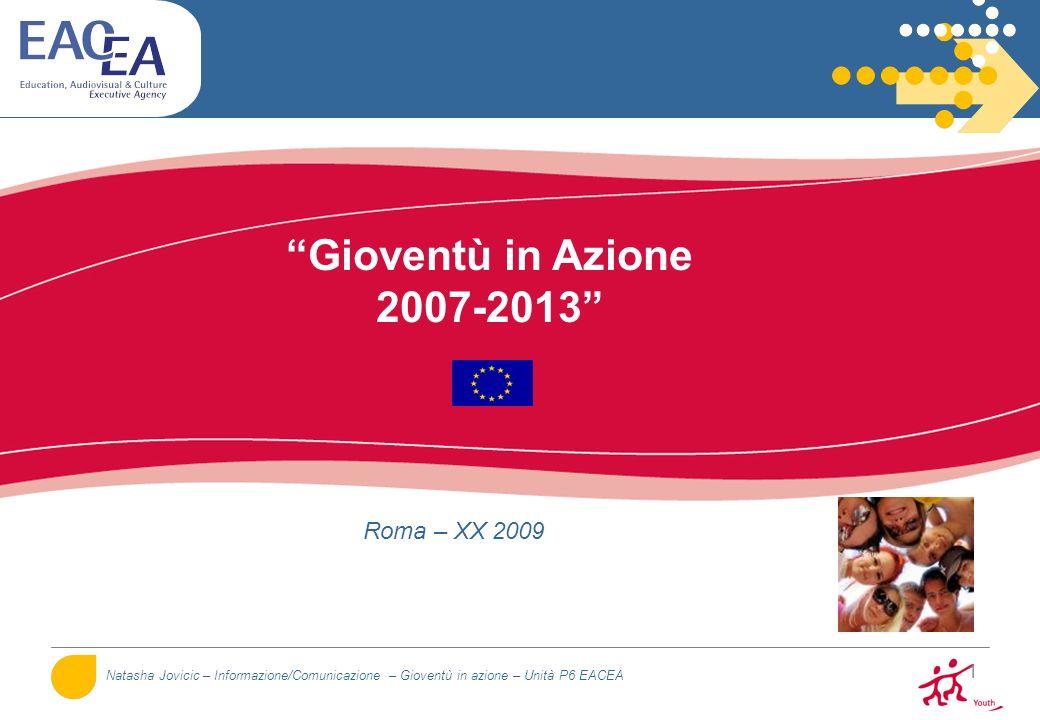 12 Attori Commissione Europea Agenzie Nazionali (85%) Agenzia Esecutiva (15%) Autorità Nazionali Altre strutture: - Centri risorse SALTO - Rete Eurodesk