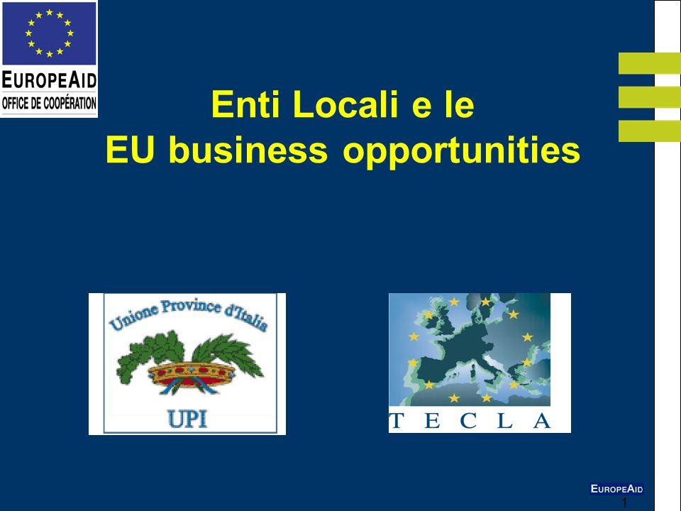 1 Enti Locali e le EU business opportunities