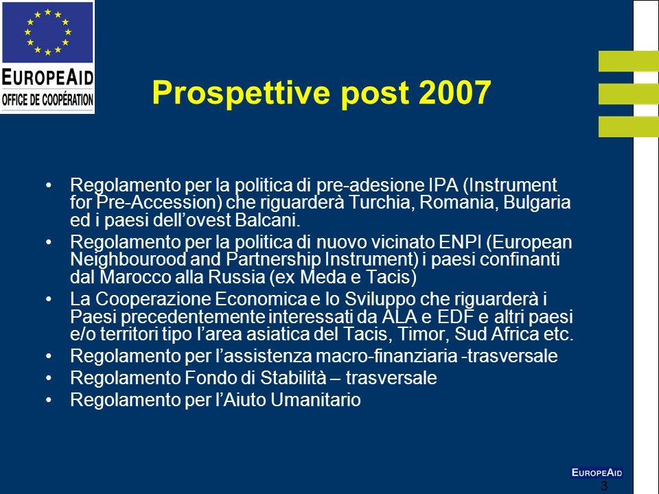 3 Regolamento per la politica di pre-adesione IPA (Instrument for Pre-Accession) che riguarderà Turchia, Romania, Bulgaria ed i paesi dellovest Balcan