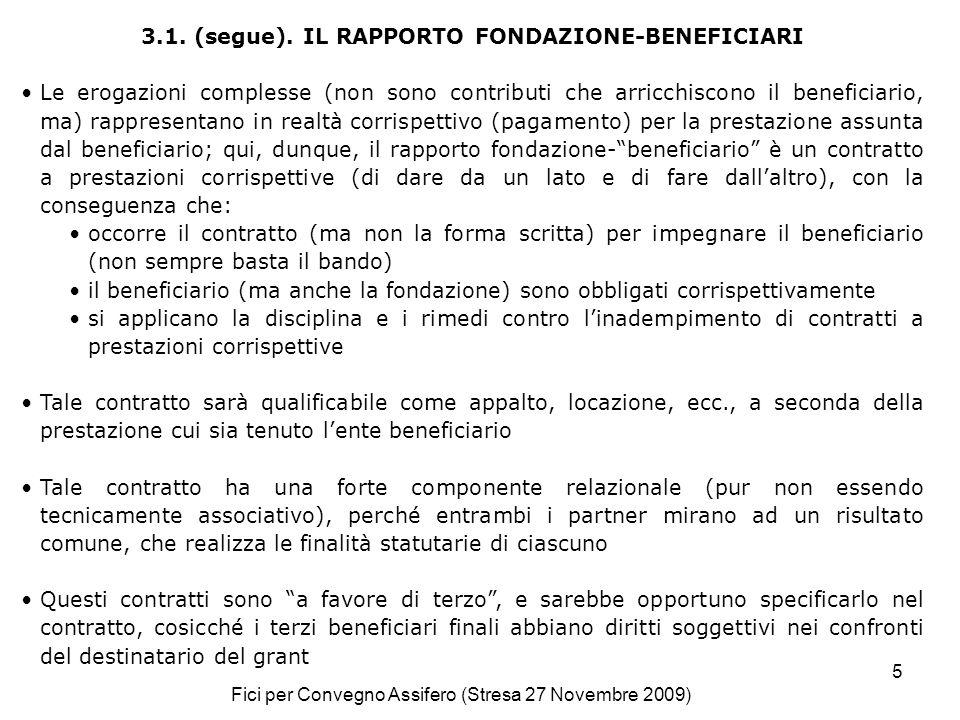 Fici per Convegno Assifero (Stresa 27 Novembre 2009) 5 3.1.