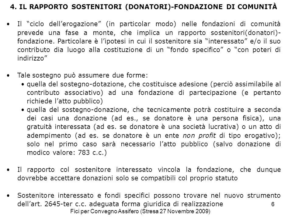 Fici per Convegno Assifero (Stresa 27 Novembre 2009) 6 4.