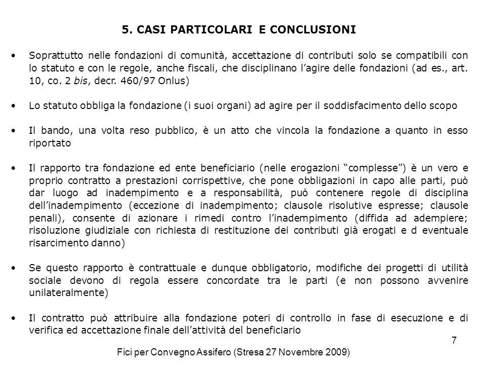 Fici per Convegno Assifero (Stresa 27 Novembre 2009) 7 5.