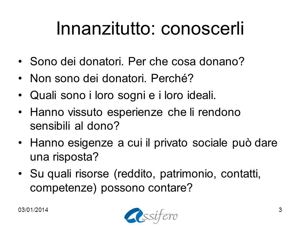 Innanzitutto: conoscerli Sono dei donatori. Per che cosa donano.