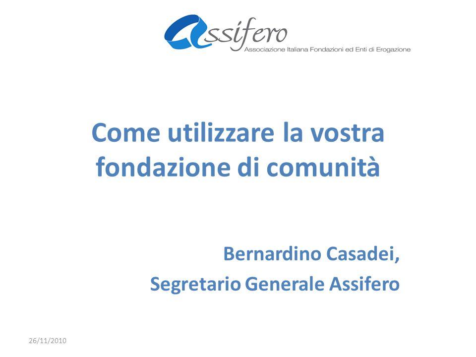 La fondazione Clodiense non è: Una filiale della fondazione di Venezia; Uno strumento per raccogliere fondi; Una non profit che vuole realizzare un proprio progetto.