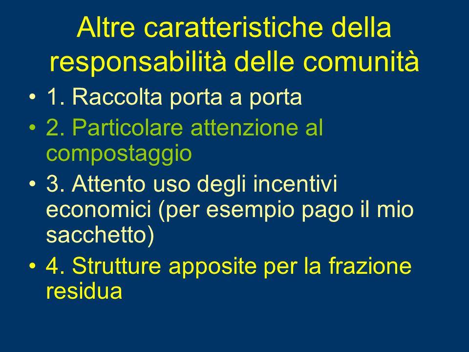 Altre caratteristiche della responsabilità delle comunità 1.