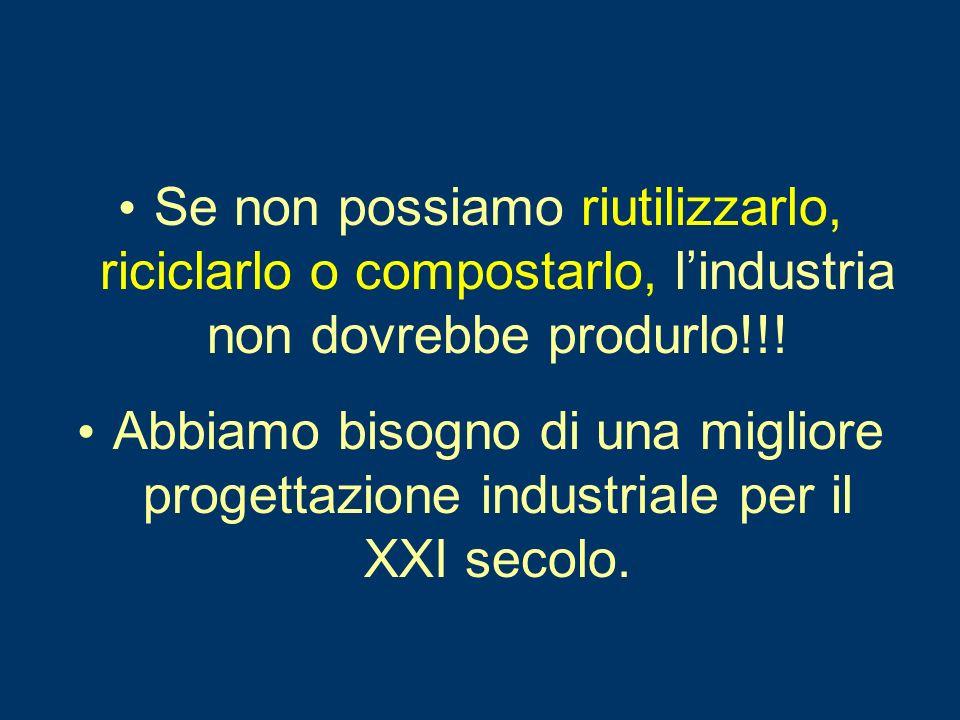 Se non possiamo riutilizzarlo, riciclarlo o compostarlo, lindustria non dovrebbe produrlo!!.