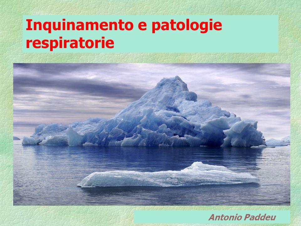 Inquinamento e patologie respiratorie Antonio Paddeu