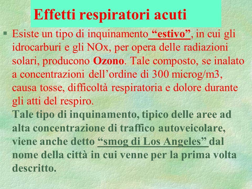 §Esiste un tipo di inquinamento estivo, in cui gli idrocarburi e gli NOx, per opera delle radiazioni solari, producono Ozono. Tale composto, se inalat