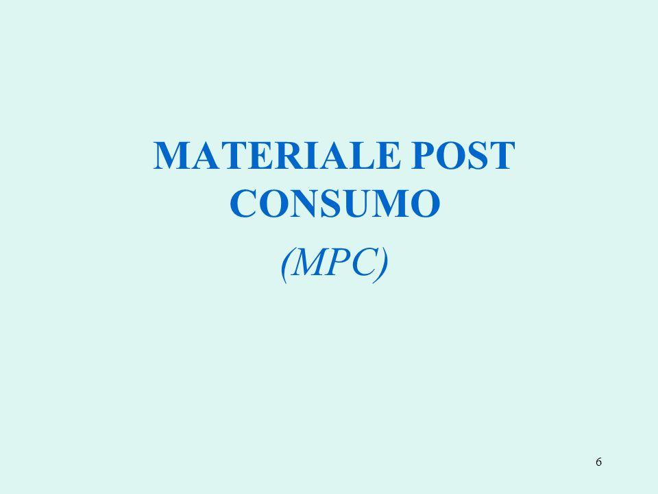6 MATERIALE POST CONSUMO (MPC)