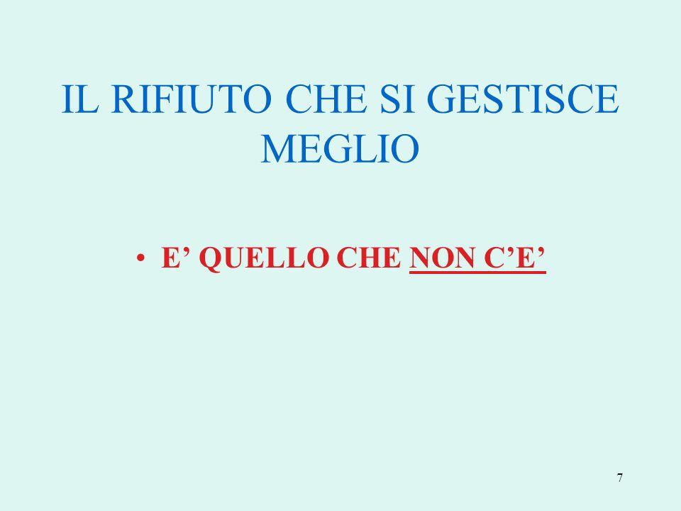 7 IL RIFIUTO CHE SI GESTISCE MEGLIO E QUELLO CHE NON CE