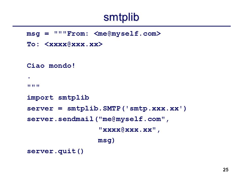 25 smtplib msg =