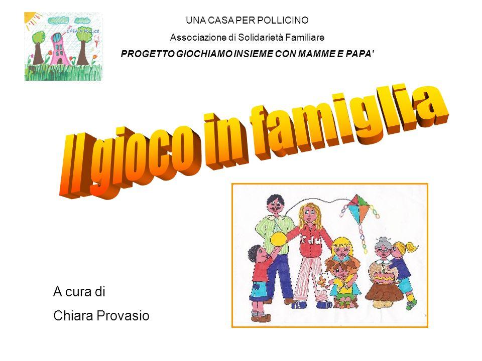 UNA CASA PER POLLICINO Associazione di Solidarietà Familiare PROGETTO GIOCHIAMO INSIEME CON MAMME E PAPA A cura di Chiara Provasio