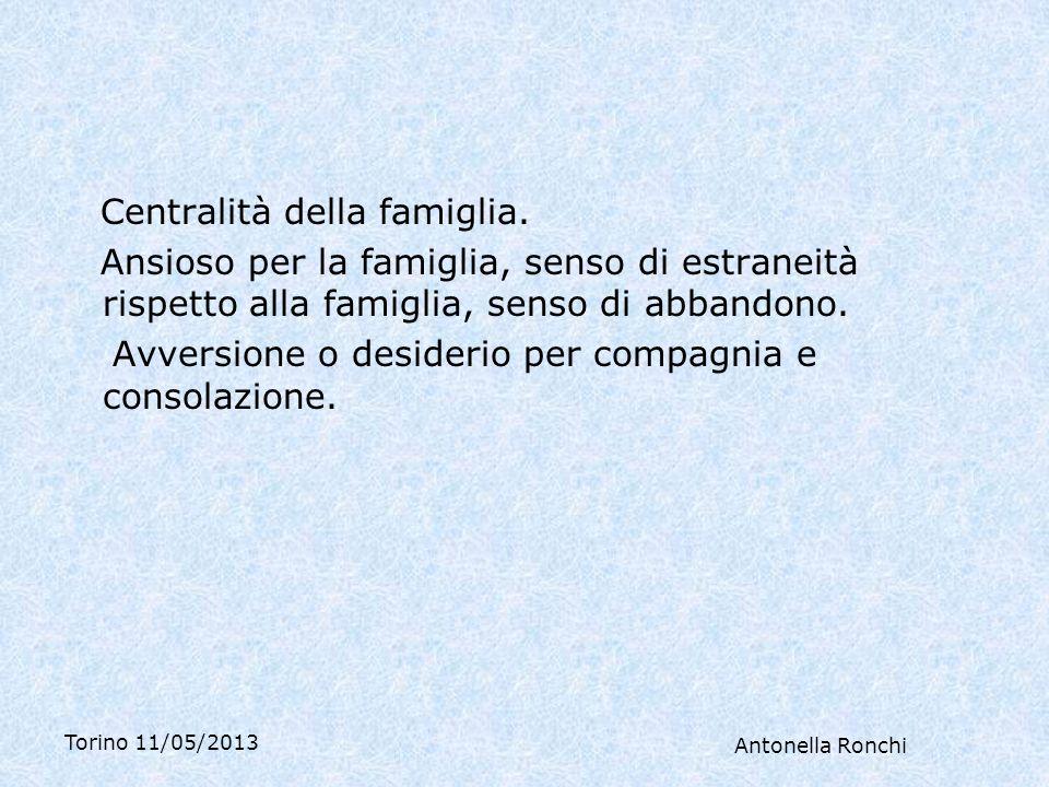 Torino 11/05/2013 Antonella Ronchi Centralità della famiglia.