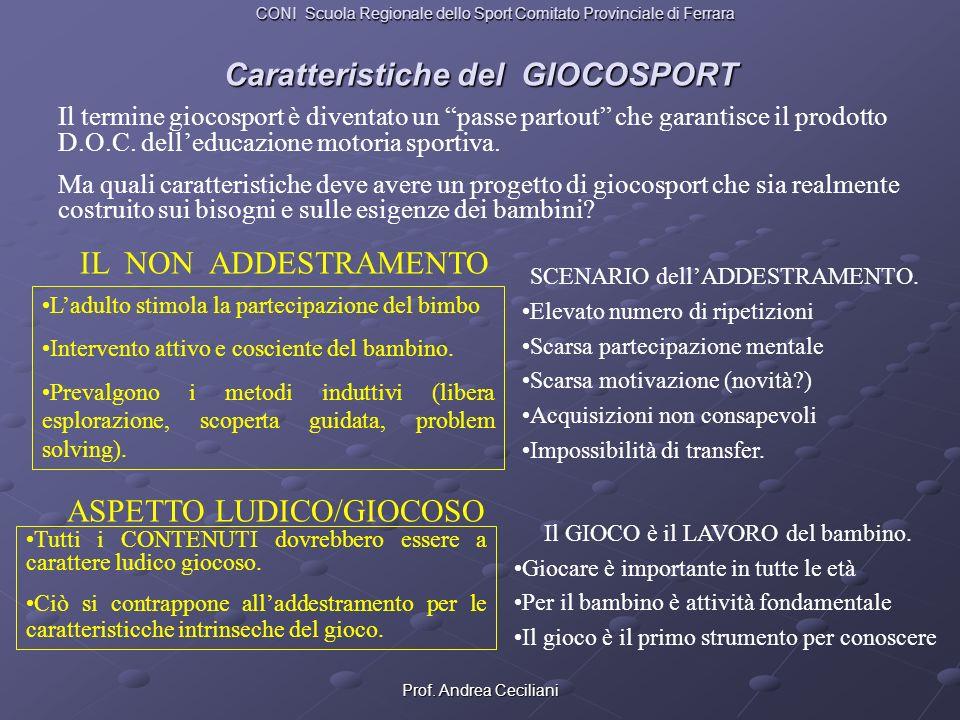 Prof.Andrea Ceciliani E GIOCOSPORT QUANDO GARANTISCE: Il NON ADDESTRAMENTO.