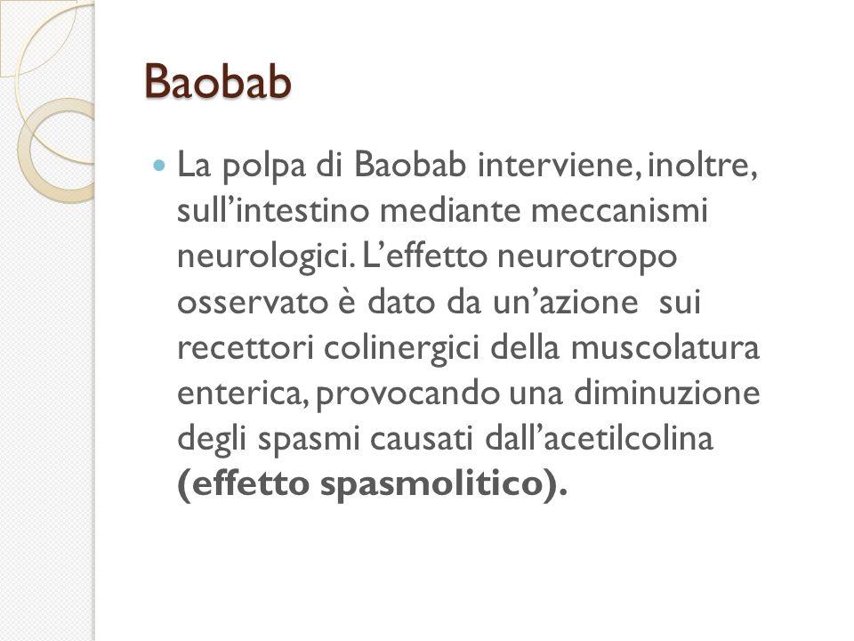 Baobab La polpa di Baobab interviene, inoltre, sullintestino mediante meccanismi neurologici.