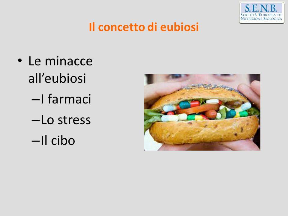 Il concetto di eubiosi Le minacce alleubiosi – I farmaci – Lo stress – Il cibo
