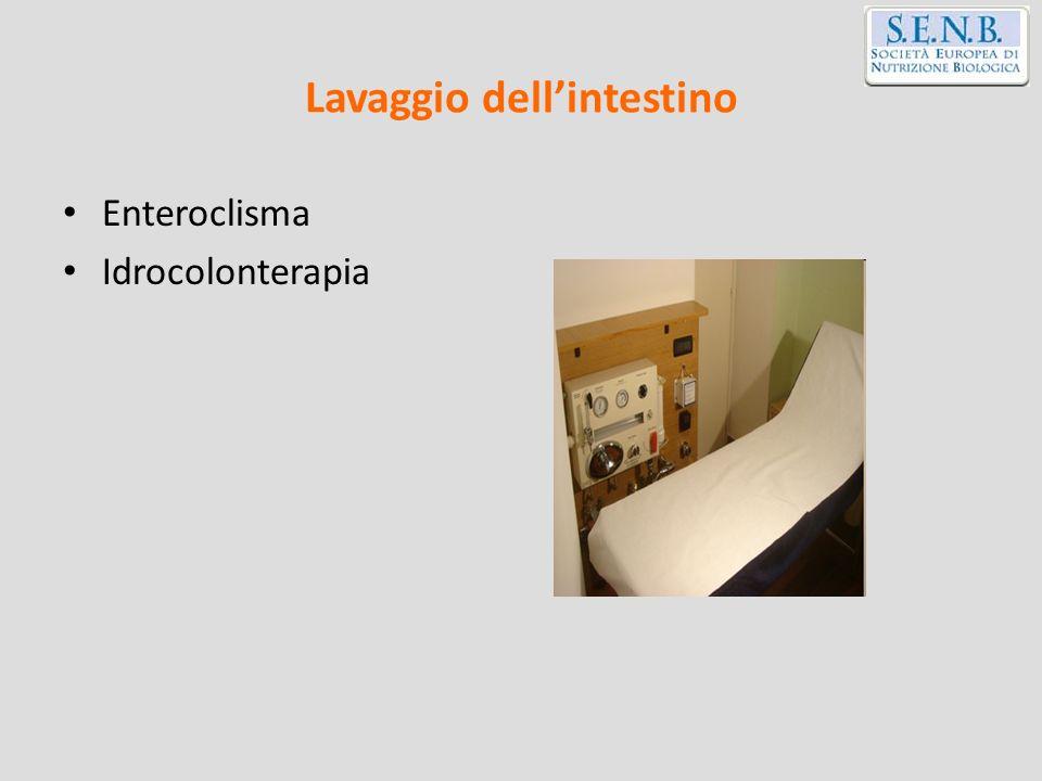 Lavaggio dellintestino Enteroclisma Idrocolonterapia