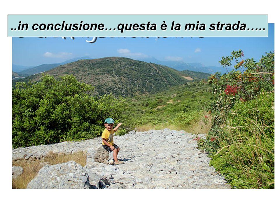 ..in conclusione…questa è la mia strada…..
