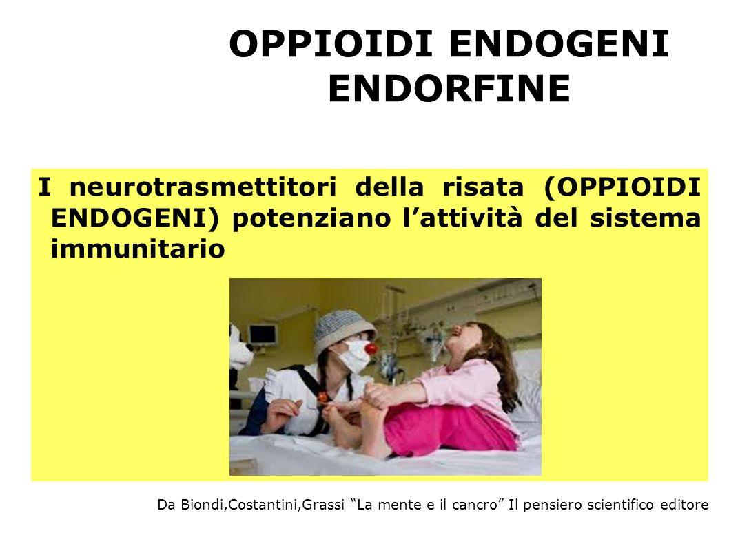 OPPIOIDI ENDOGENI ENDORFINE I neurotrasmettitori della risata (OPPIOIDI ENDOGENI) potenziano lattività del sistema immunitario Da Biondi,Costantini,Gr
