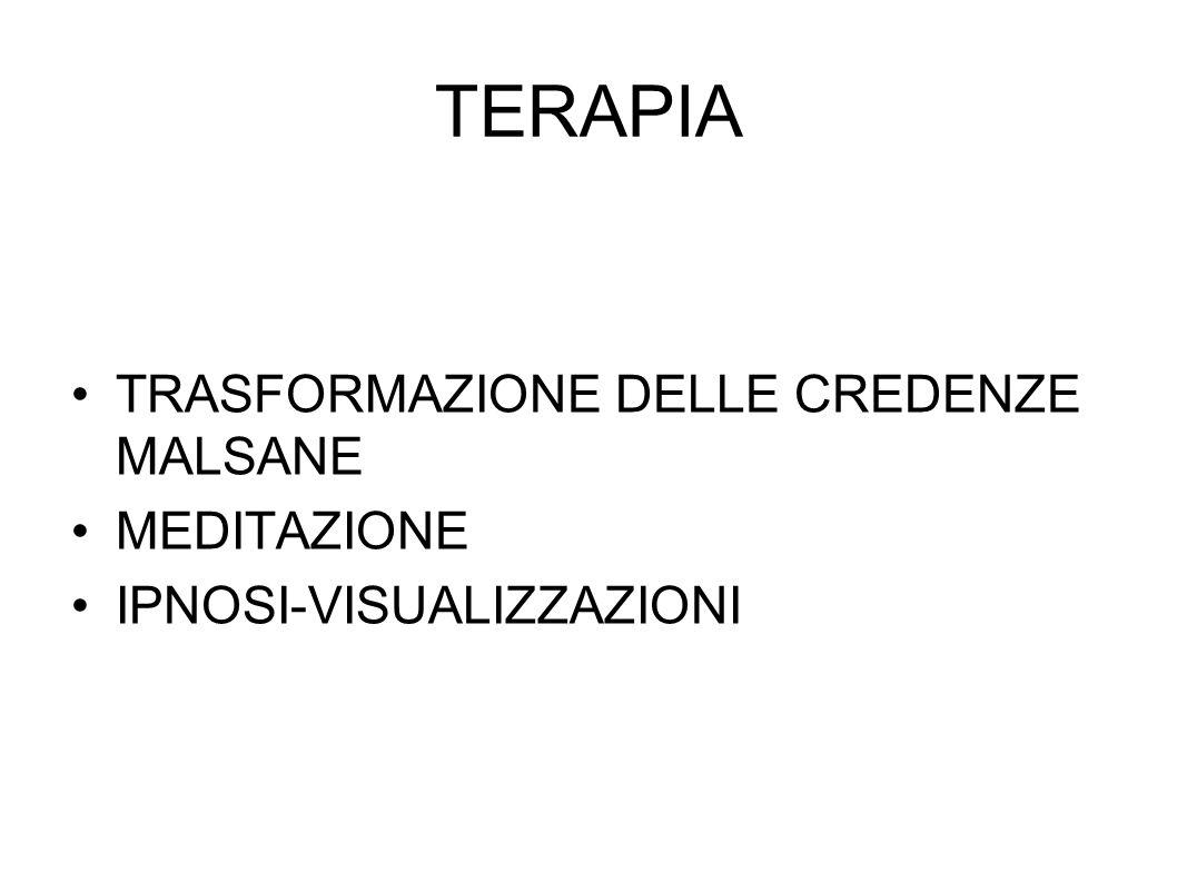 TERAPIA TRASFORMAZIONE DELLE CREDENZE MALSANE MEDITAZIONE IPNOSI-VISUALIZZAZIONI
