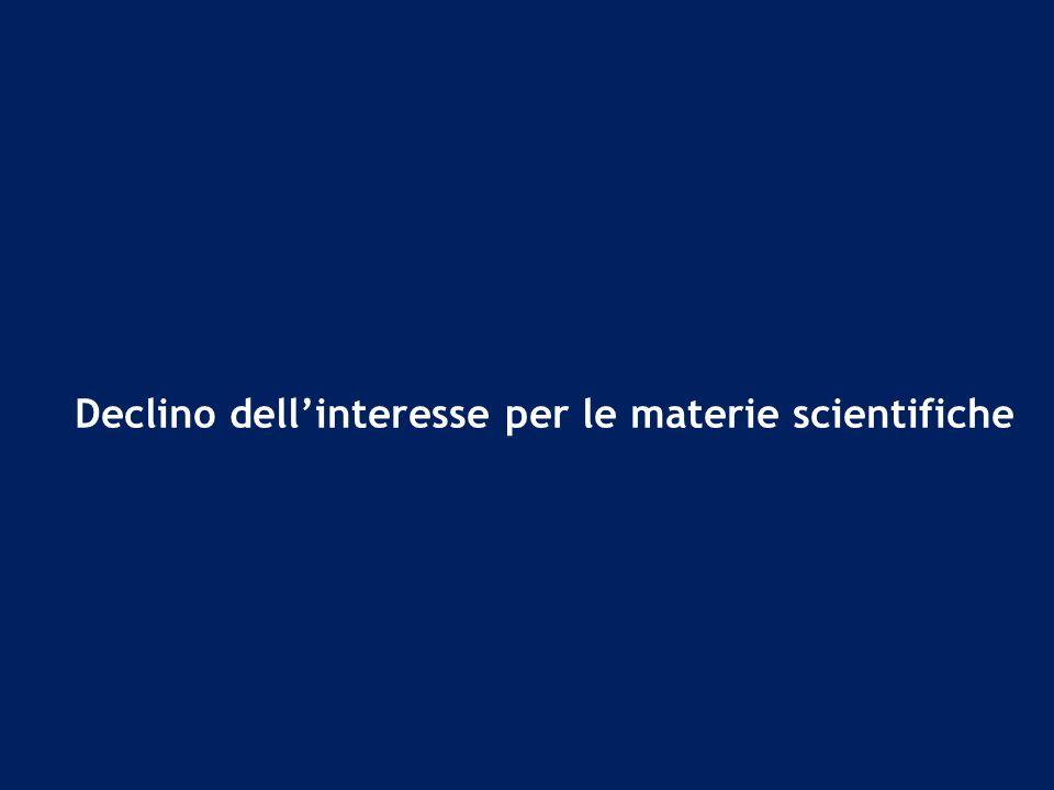 Declino dellinteresse per le materie scientifiche