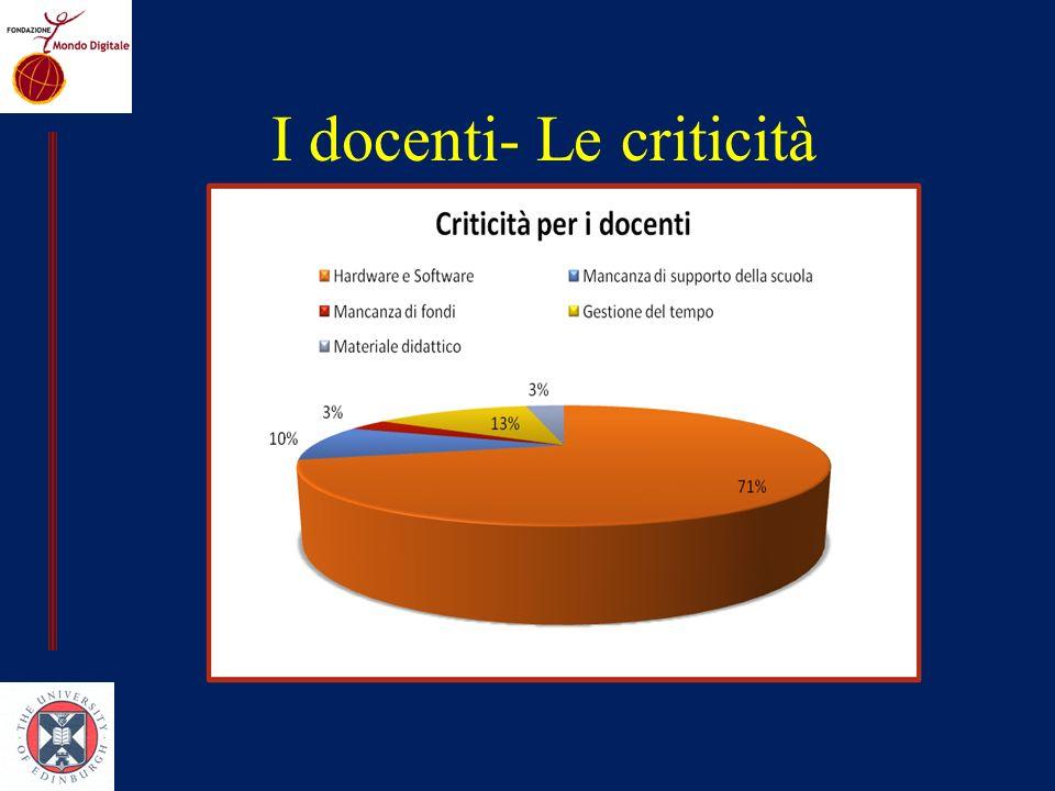 I docenti- Le criticità
