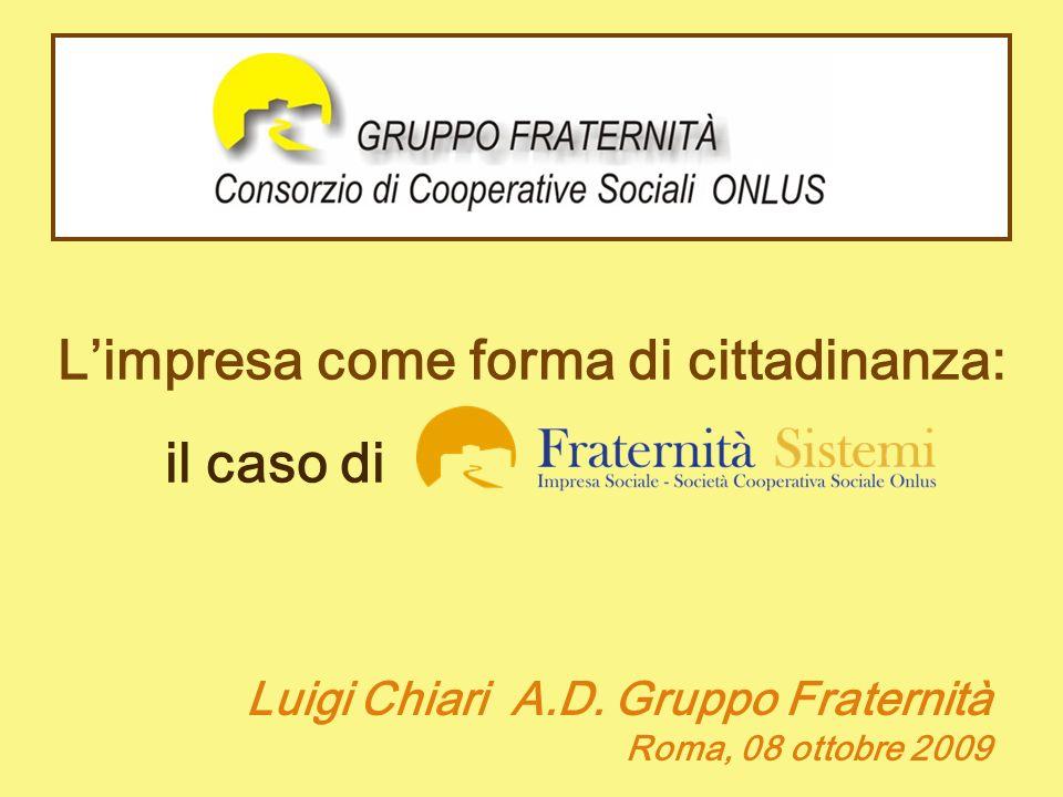 Limpresa come forma di cittadinanza: il caso di kkùùùùùùùùùùùùùùù Luigi Chiari A.D. Gruppo Fraternità Roma, 08 ottobre 2009