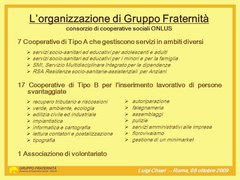 Luigi Chiari -- Roma, 08 ottobre 2009hj E un ottima idea, è una risposta concreta ad un bisogno evidente ed urgente ma...