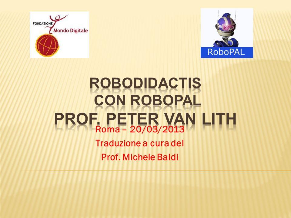 Il progetto RoboDidactis è stato sviluppato dal Prof.