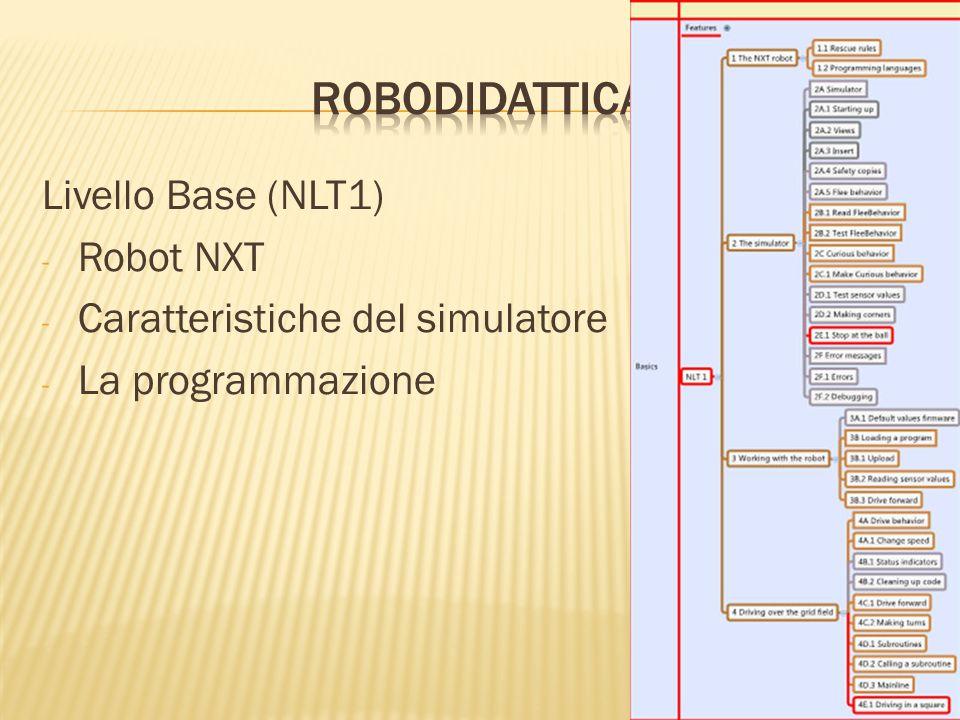 Livello Base (NLT1) - Robot NXT - Caratteristiche del simulatore - La programmazione