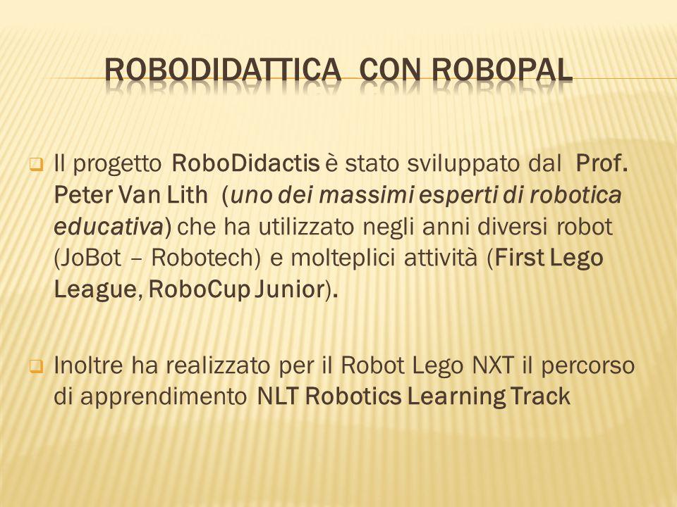 Il progetto RoboDidactis è stato sviluppato dal Prof. Peter Van Lith (uno dei massimi esperti di robotica educativa) che ha utilizzato negli anni dive