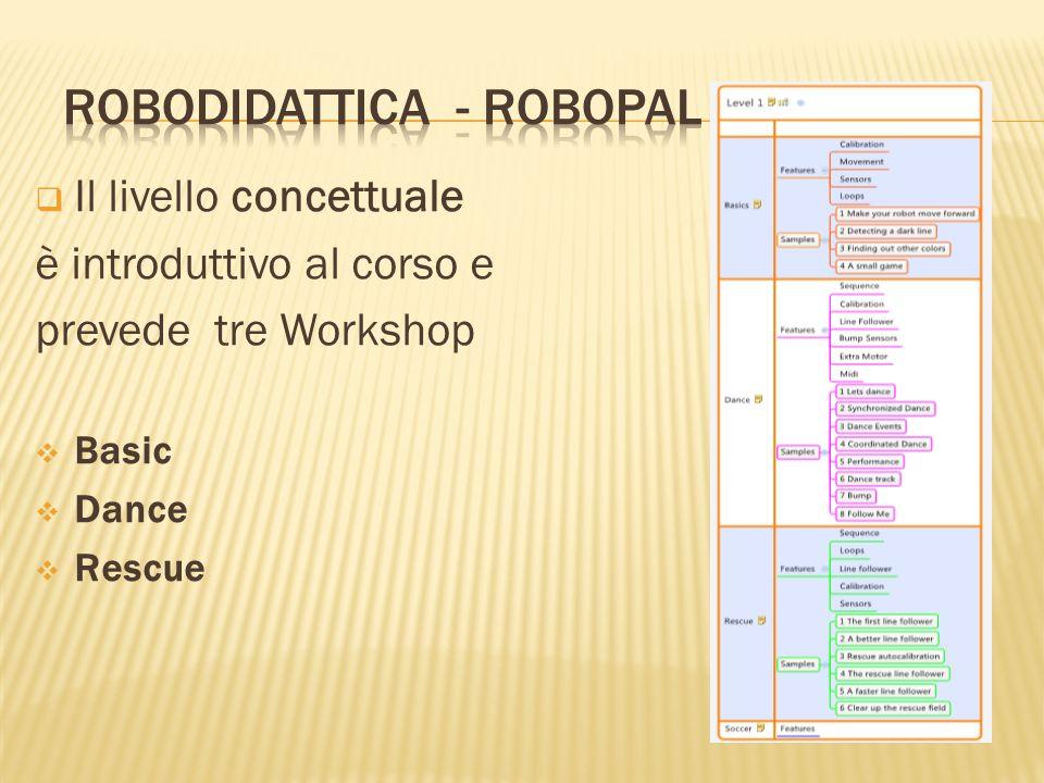Il livello concettuale è introduttivo al corso e prevede tre Workshop Basic Dance Rescue