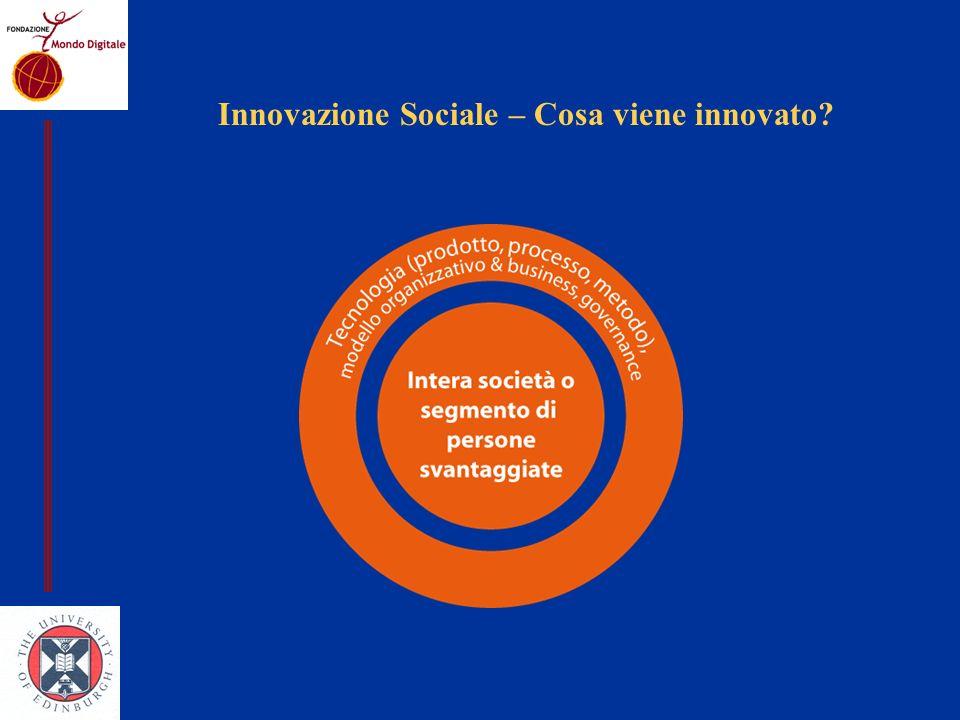 Innovazione Sociale – Cosa viene innovato