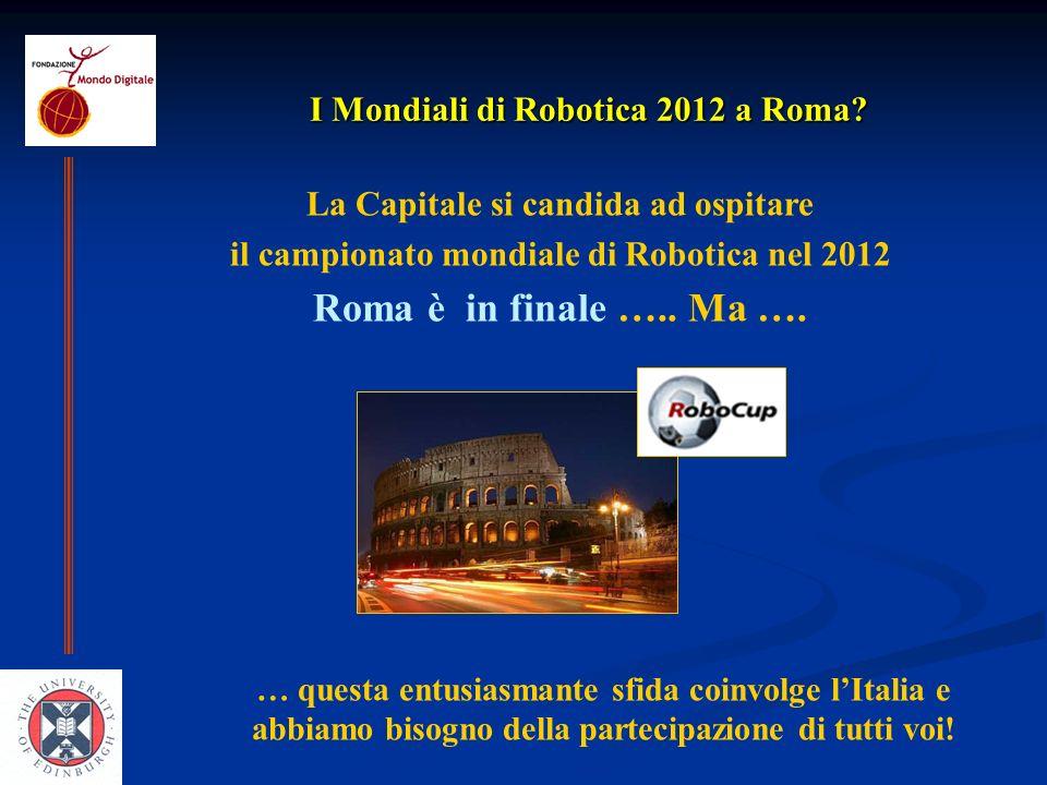 I Mondiali di Robotica 2012 a Roma.