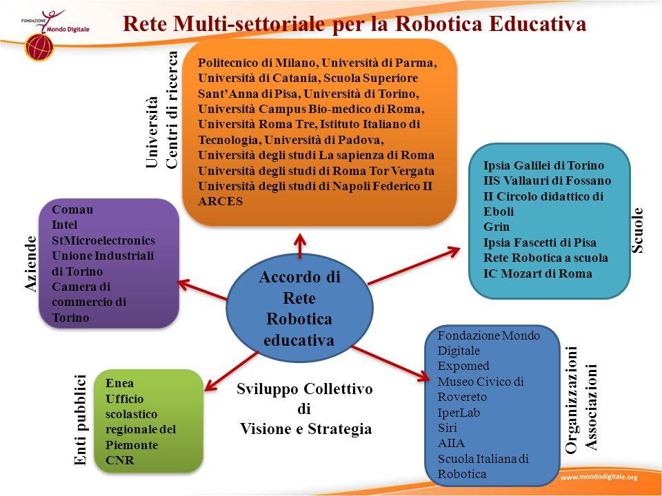 Accordo di Rete Robotica educativa Comau Intel StMicroelectronics Unione Industriali di Torino Camera di commercio di Torino Comau Intel StMicroelectr
