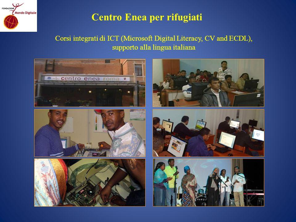 Centro Enea per rifugiati Corsi integrati di ICT (Microsoft Digital Literacy, CV and ECDL), supporto alla lingua italiana