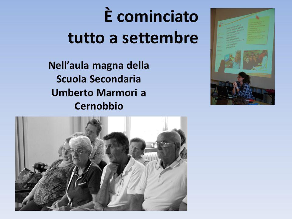 È cominciato tutto a settembre Nellaula magna della Scuola Secondaria Umberto Marmori a Cernobbio